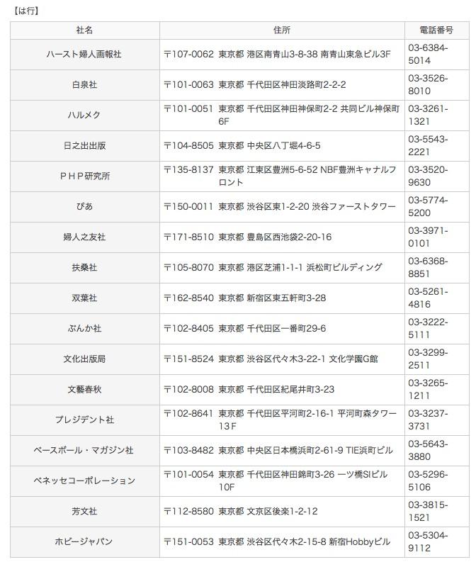 一般社団法人 日本雑誌協会ウェブサイト