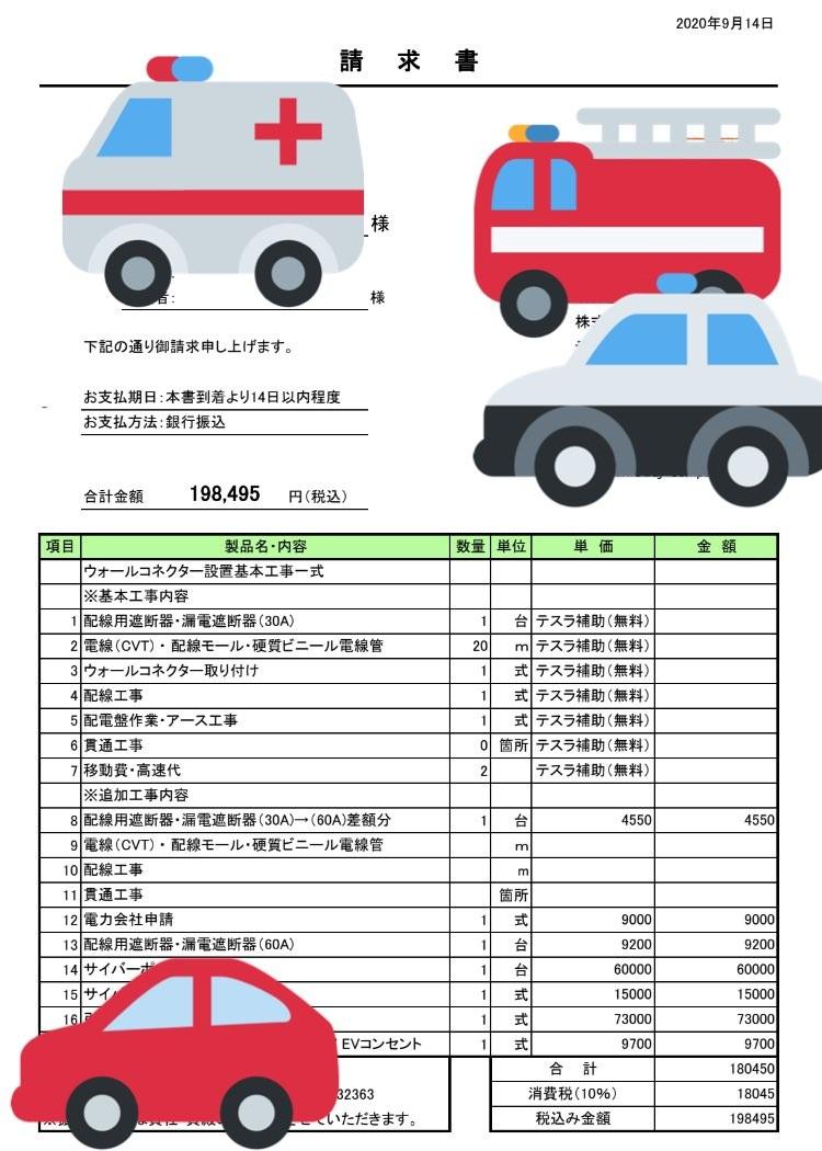 充電設備の設置費用(ぱらたさん提供)