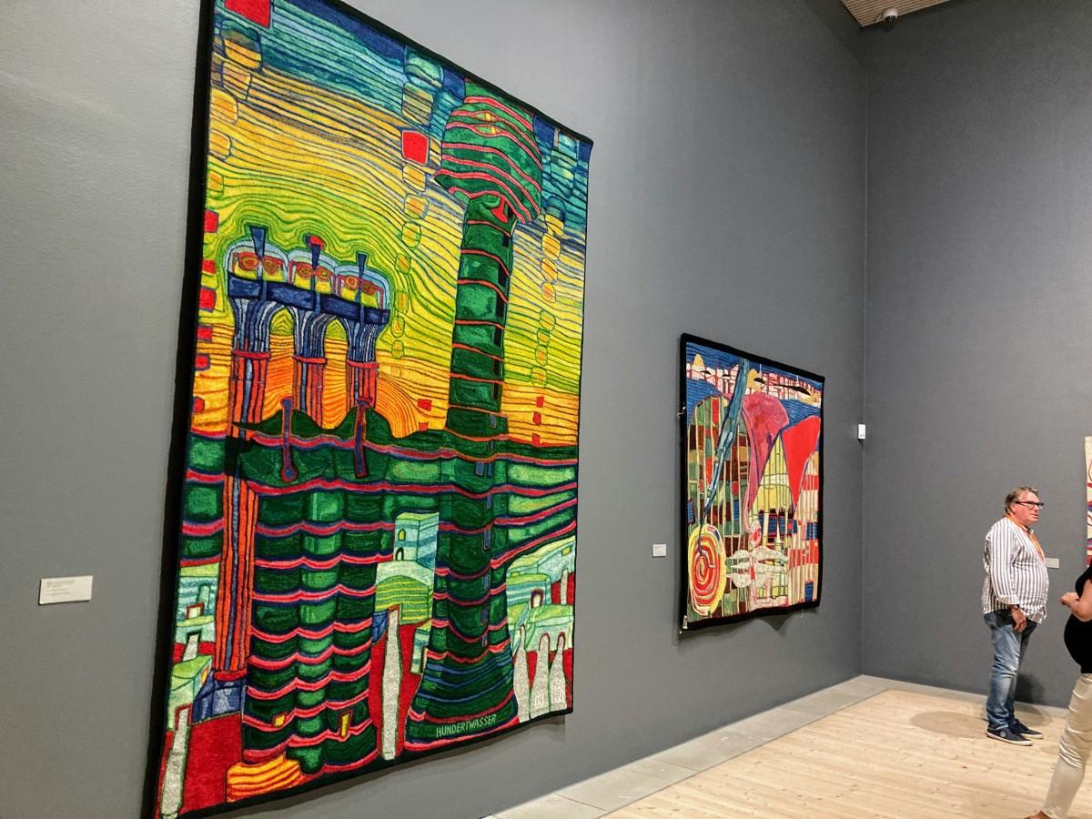 水彩画美術館ではありますが、展示内容は彼の生涯に渡り制作したタペストリーやエッチングなど多彩でした