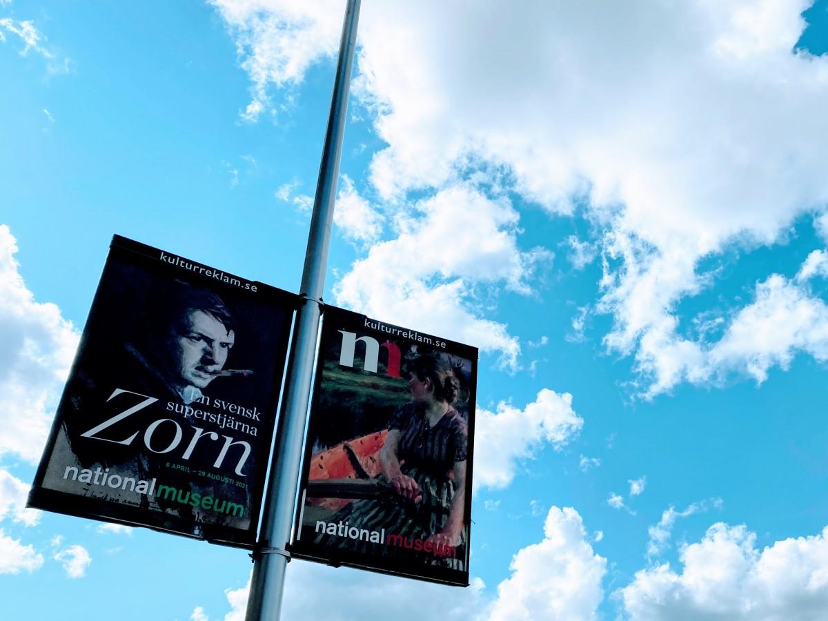 「スウェーデンのスーパースター、ソーン」というコピーのついた展覧会のポスターを街でよく見ました