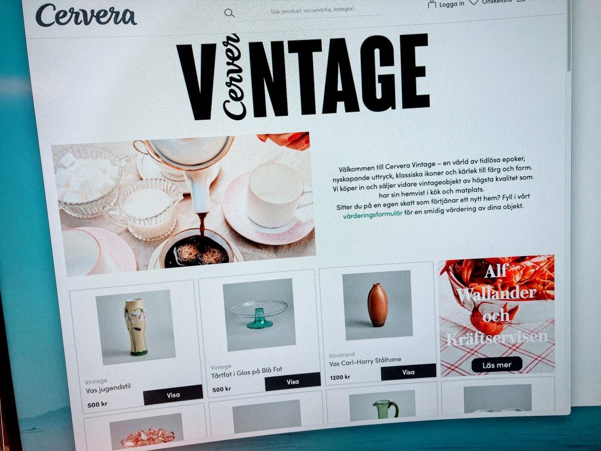 人気のブランドのヴィンテージ品も売るようになったCervera